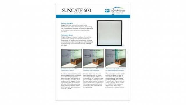 SUNGATE600GlassDataSheet